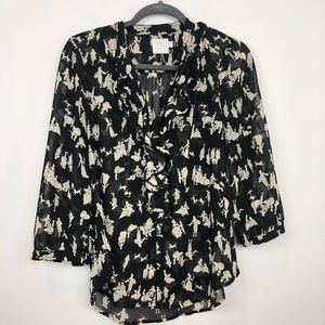 Anthropologie HD In Paris Fairy Tale Print Blouse